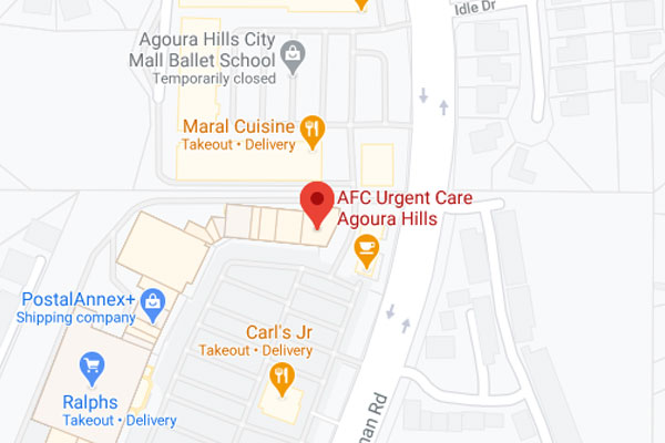 Directions to AFC Urgent Care Near Agoura Hills, CA